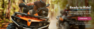 Atv or Snowmobile loan special banner