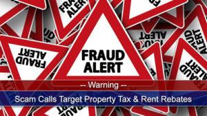 Rent rebate scam