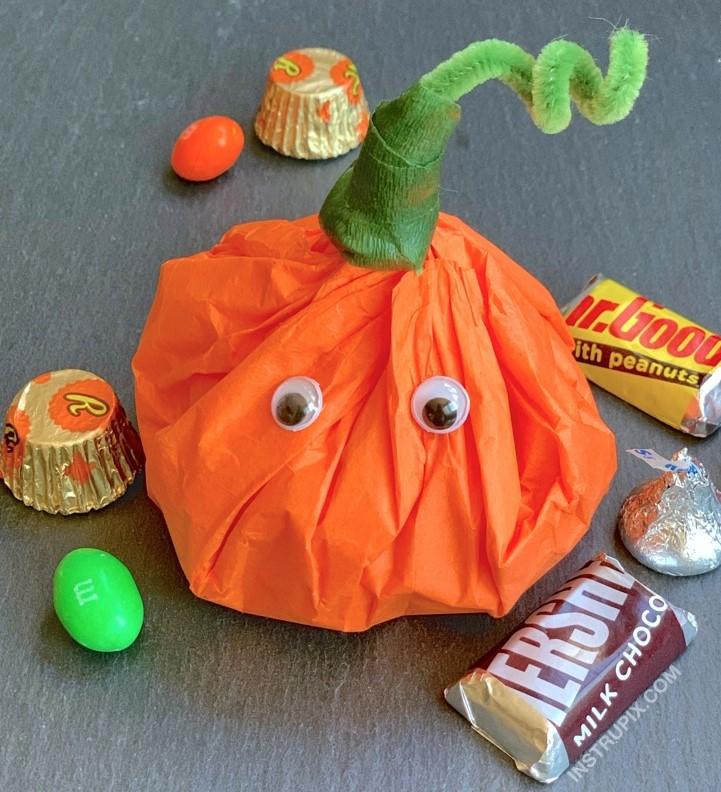 Tissue Paper Pumpkin Goody Bag